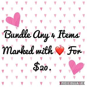Bundle any 4 ítems marked with ❤️ for $20